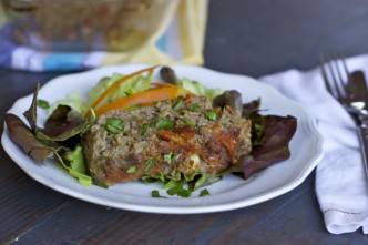 sun dried tomatoes and mushroom meatloaf