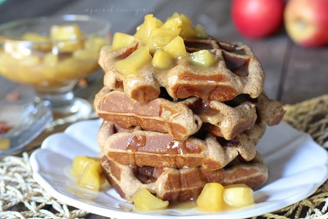 Caramel Apple Spice Waffles